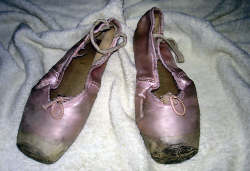 worn out pointe shoes flickr photo sharing