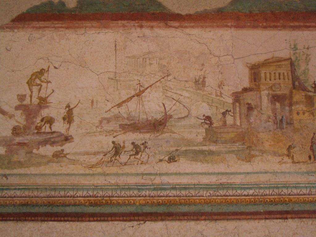 Roman Wall Painting Pompeii
