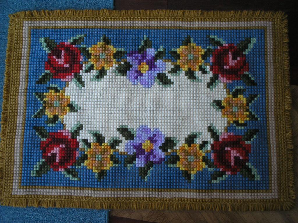 Tapete De Flores - Ponto Cruz Duplo L U00e3