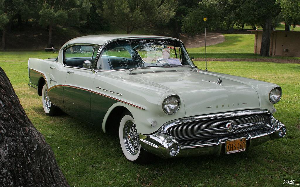 1957 Buick Roadmaster 4d Htp Tt Green Fvr Glendale
