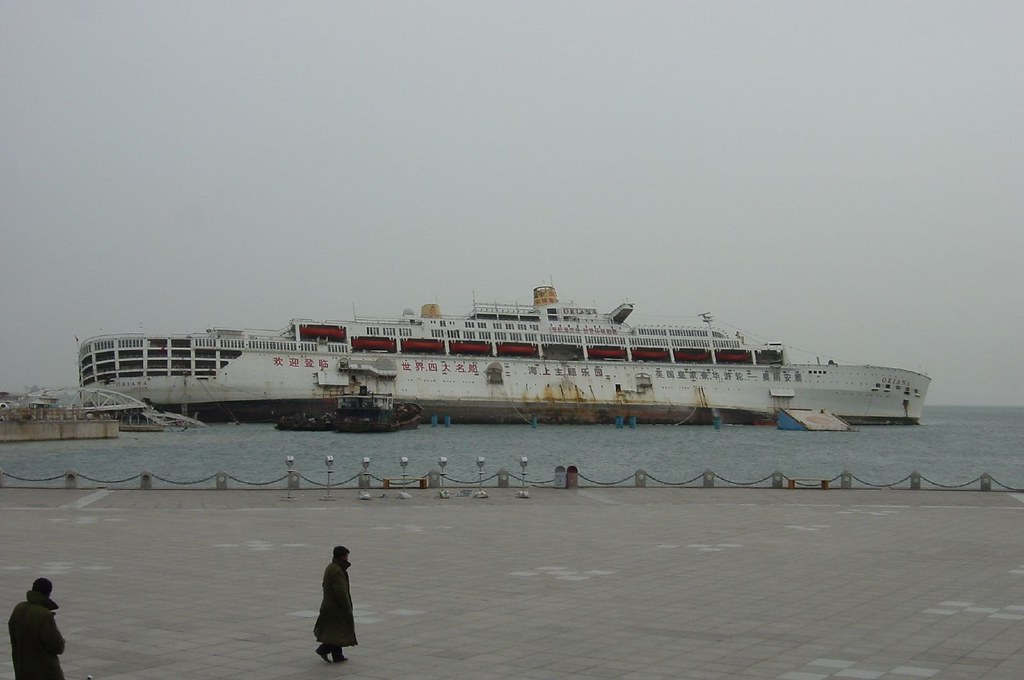 Partially Sunken Cruise Ship Oriana In Dalian China | Flickr