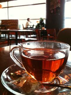食後にあったかい紅茶