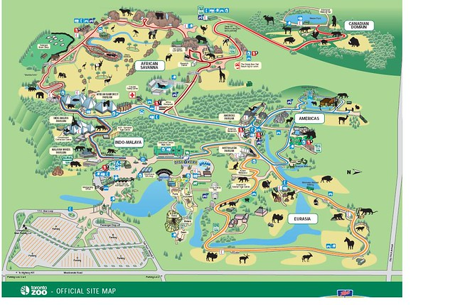 Map of Toronto zoo Spread across 710 acres and has 5000 an