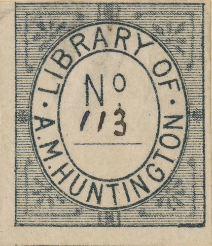 [Bookplate of A.M. Huntington] | by Pratt Institute Library