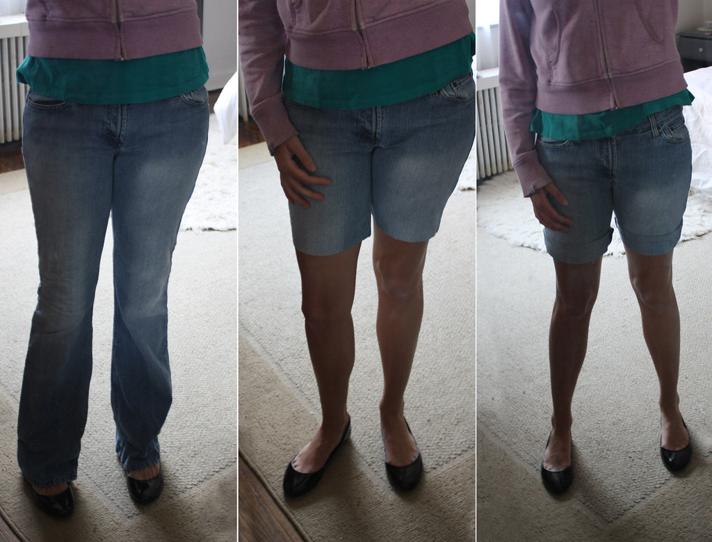 Jean Capris And Tennis Shoes