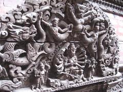 Wooden carvings on Kumari's temple