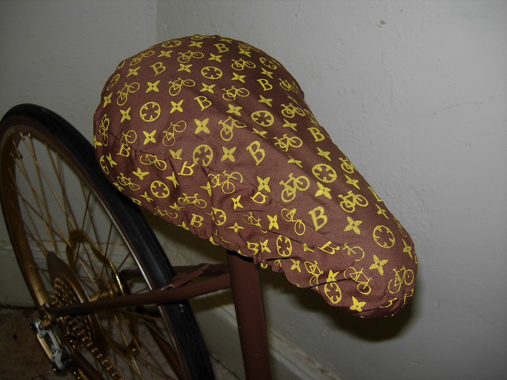 louis vuitton seat cover by yours truly lori forty flickr. Black Bedroom Furniture Sets. Home Design Ideas