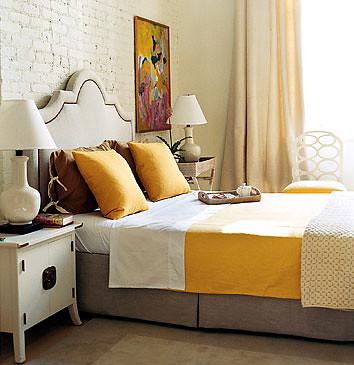 White And Yellow Bedroom Domino Magazine This Bedroom