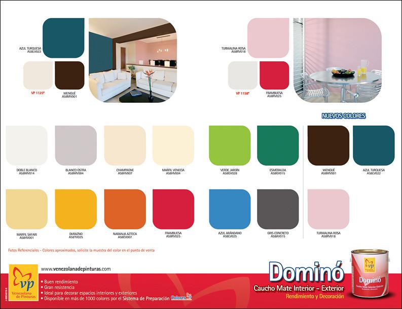Carta de colores domino mate vp retiro venezolana de - Colore de pintura ...