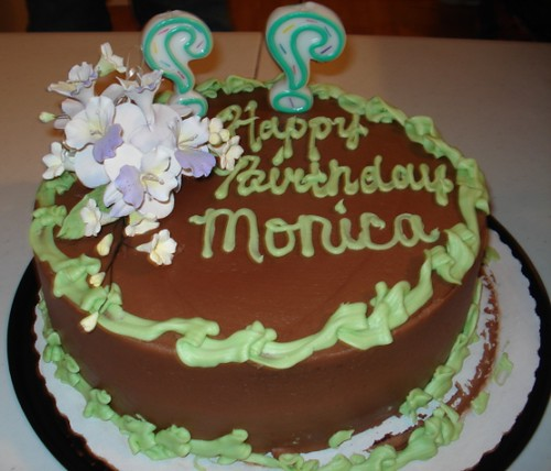 Monica s Cake Take 2 Monica s Birthday cake mistedblue ...