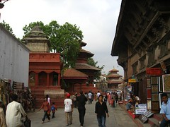 ...to Durbar Square, ex hippy joint and temple central.