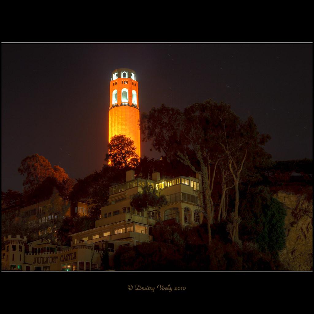 Coit Tower Dressed In Orange