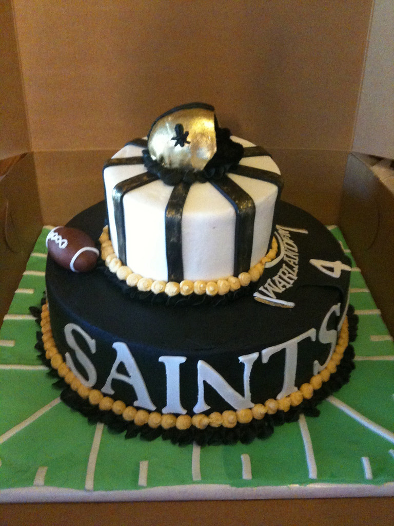 Saints Themed Birthday Cake Carmela Flickr