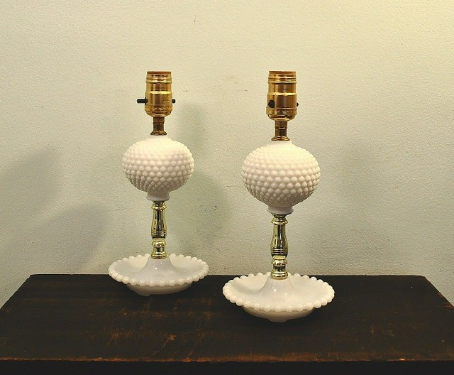 vintage hobnail milk glass lamps flickr photo sharing