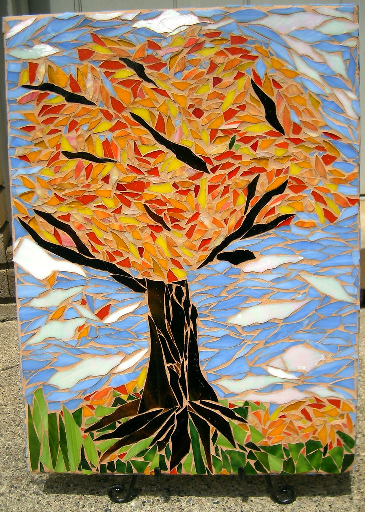 Eighth Grade Mosaic- Fall  This is one of four mosaics desi…  Flickr