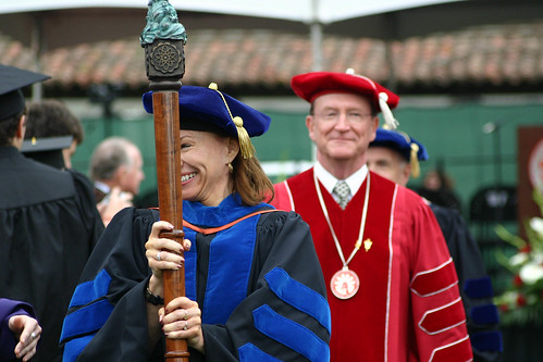 Terry Ballman leading the procession at the end of ceremony | by California State University Channel Islands