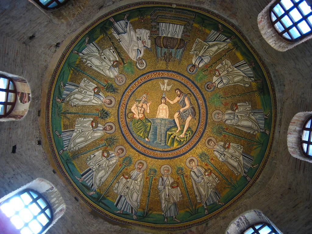 Ceiling Mosaic  Arian Baptistry  Ravenna