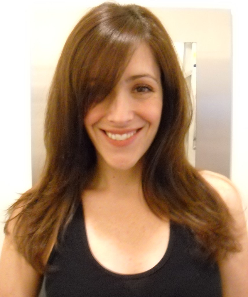 Side Swept Face And Haircuts: Kristie's All Over Layering For Top Fullness.