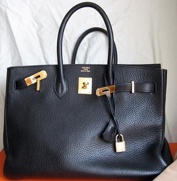 hermes handbag black
