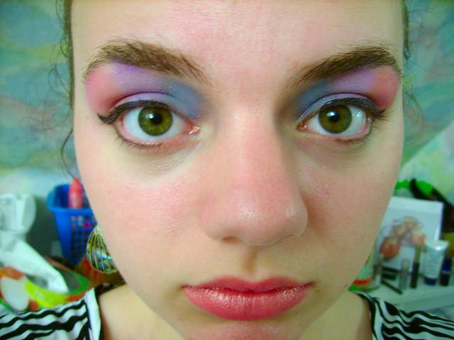 makeup test run for pride parade