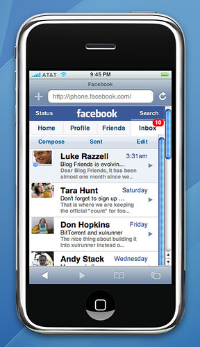 free facebook app for iphone inbox on iphone chris messina flickr 9160