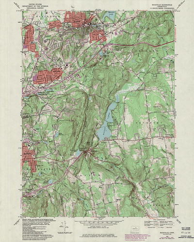 Rockville Quadrangle 1984 - USGS Topographic Map 1:24,000 | by uconnlibrariesmagic