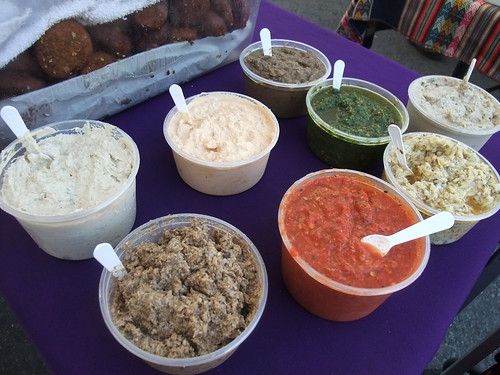 SFO Day 2: Various Mediterranean Dips at the Ferry Plaza Farmers Market | by swampkitty