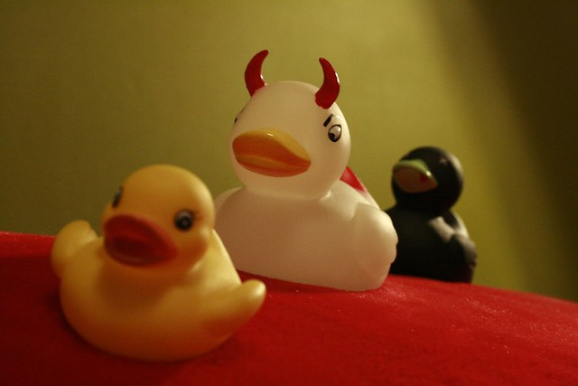 Evil Duck in the middle | Petteri Löppönen | Flickr