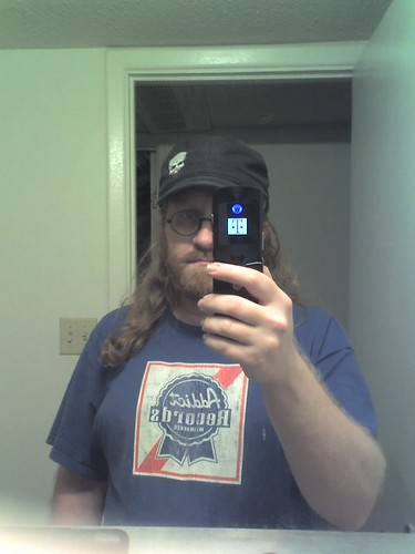obligatory cellphone bathroom mirror self portrait | by stallio