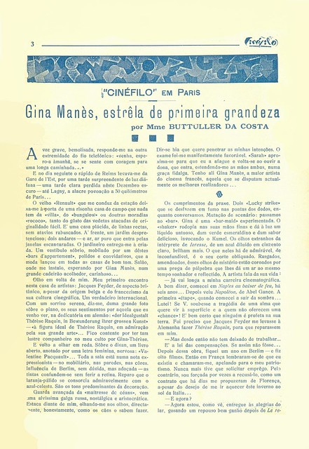 Cinéfilo, No. 73, January 11 1930 - 2