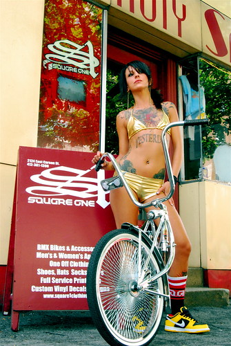 Nicole lee posing for Square one BMX. summer, southside. | by blah blah photos...blah blah blah
