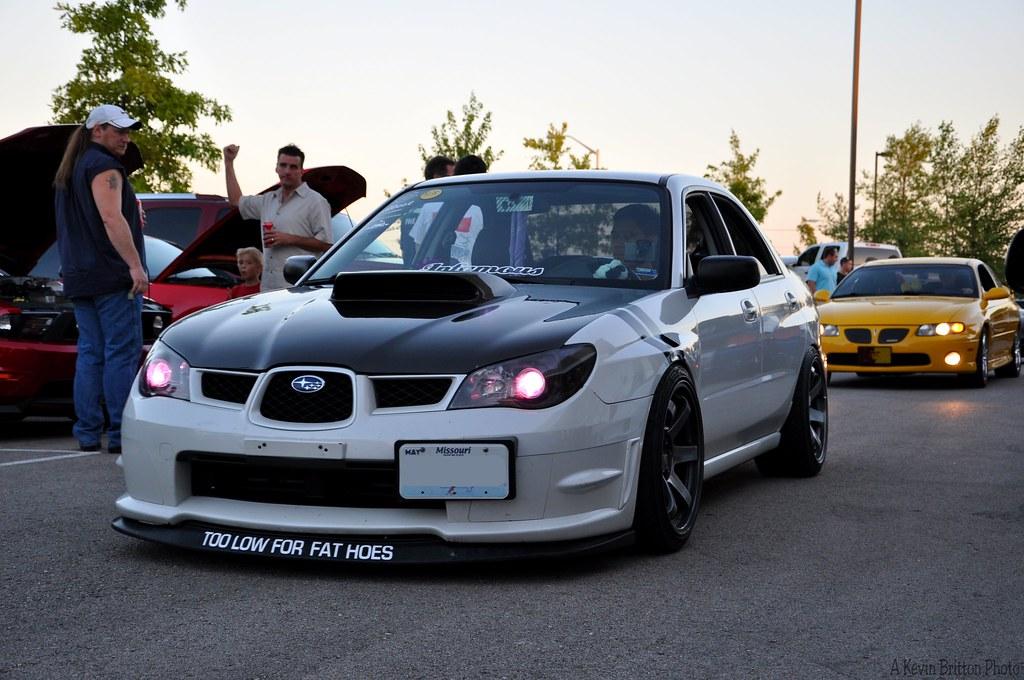 Subaru Wrx Sti Tricked Out Subaru Wrx Sti Pulling Into