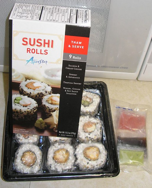 Frozen sushi i found this frozen sushi at the local wal for Frozen fish for sushi