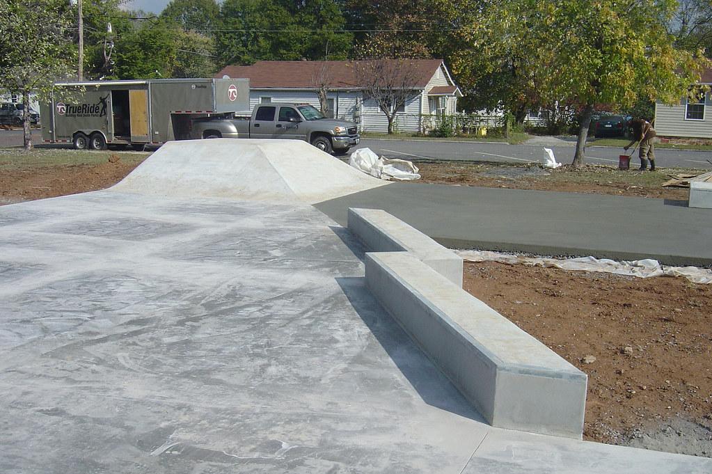 Dalton georgia concrete skatepark construction progress for Concrete home builders in georgia