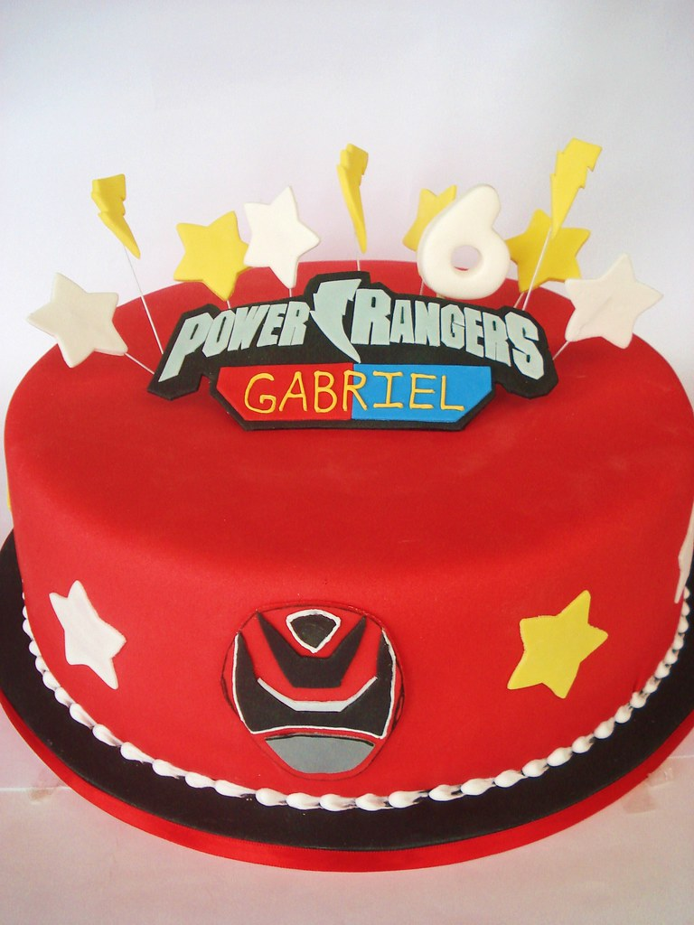 Red Power Ranger Cake Pictures