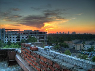 HDR Sunset on the Rooftop | by Hotcooler