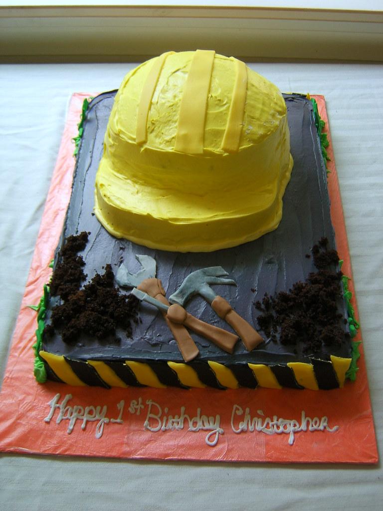 Hard Hat Cake Construction Cake All Chocolate Cake