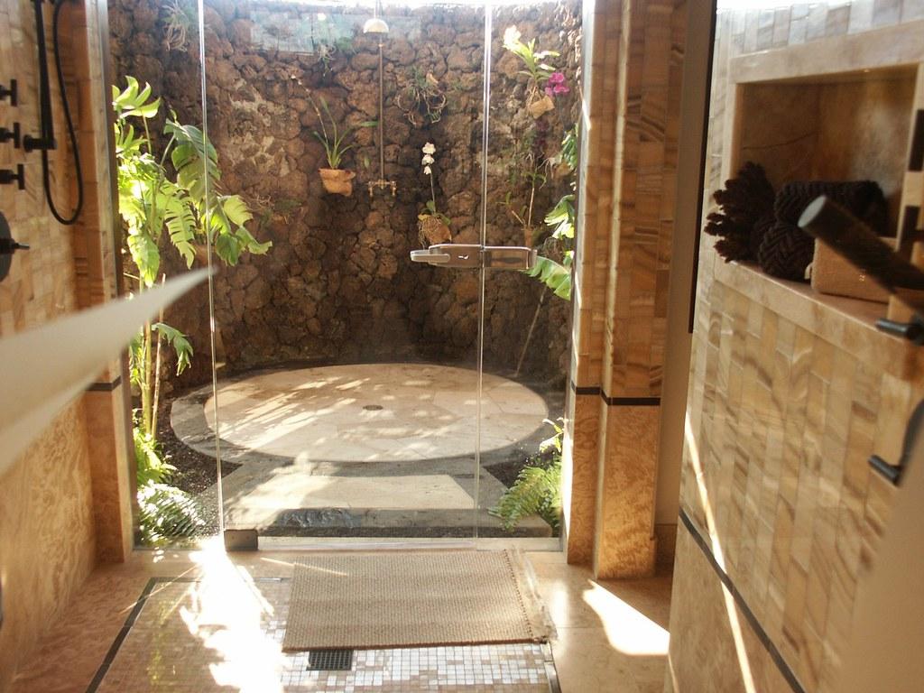 Davis indoor outdoor shower samuel brown tile flickr for Outdoor shower floor ideas