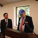 Martin Kaplan introduces Dr. Yenokida to speak on behalf of the Merkin family at the OLLI room dedication.
