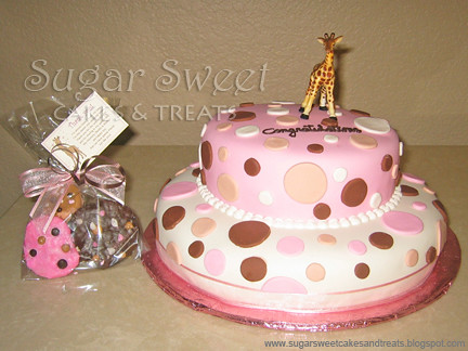 2007 05 Baby Shower Cake | Polka Dot Baby Shower Cake   10 Au2026 | Flickr