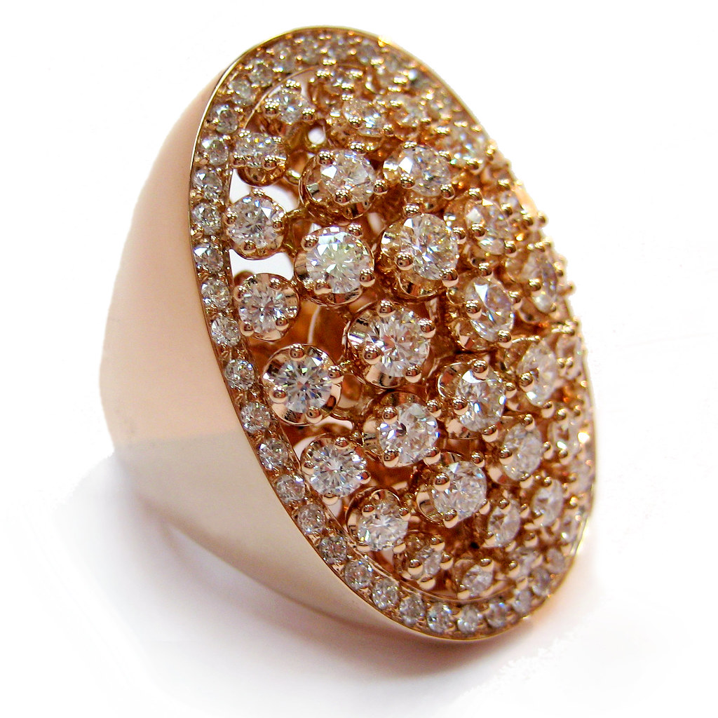 new rose gold italian jewelry ring the first dribble of it