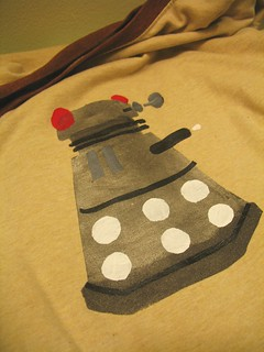 a dalek tshirt for leff! | by Rakka
