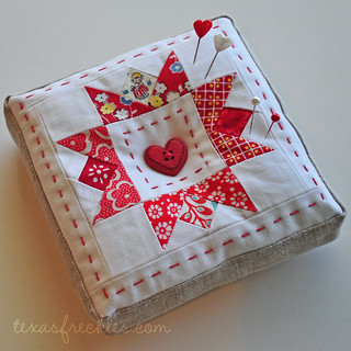 Scrappy Pincushion Swap - Second try | by texas freckles | Melanie