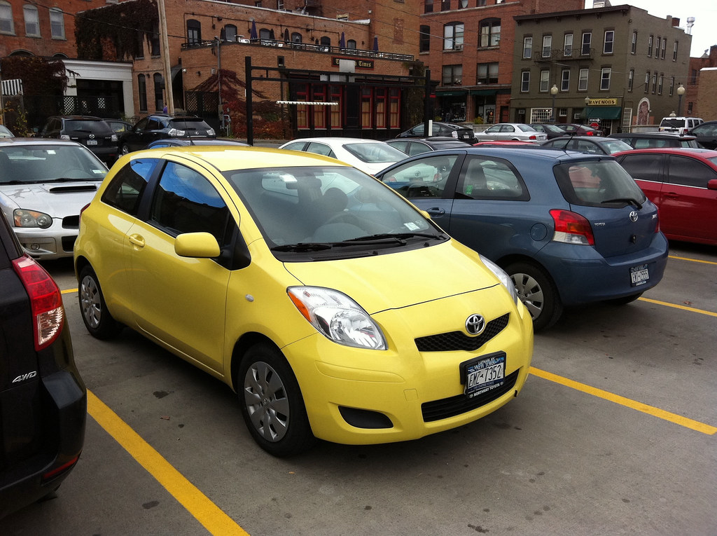I Finally Saw A Super Rare Yellow Toyota Yaris Today