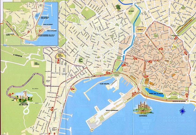 Palma De Mallorca Map City Of Palma De Mallorca Map Citys Flickr