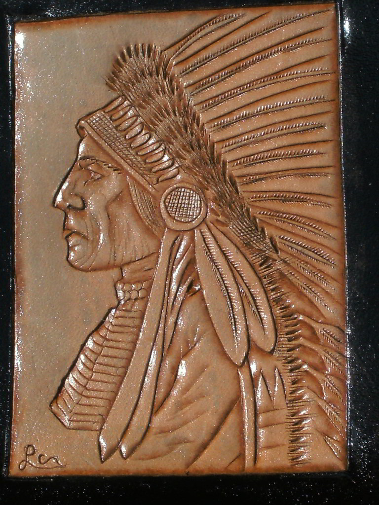 Hand Tooled Leather Iphone Case