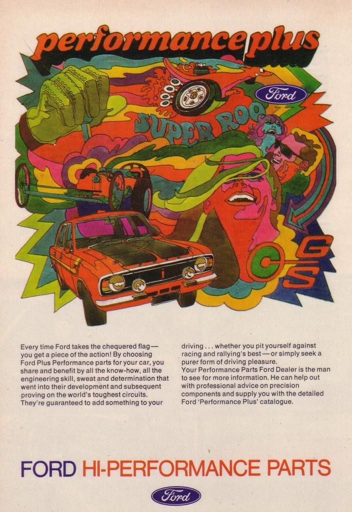 Ford Racing Parts >> 1969 Ford Cortina Mk2 GT - Hi-Performance Plus Parts Ad ...