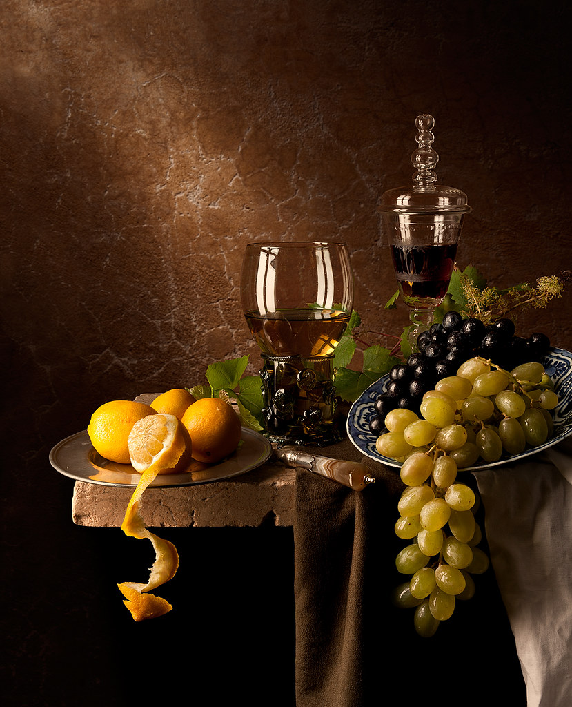 338 Best Images About Still Life On Pinterest: Still Life With Grapes And Lemons