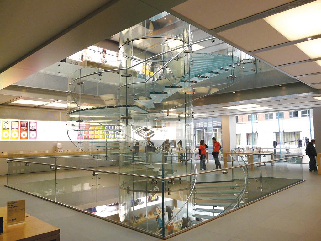glass staircase apple store boston mass elizabeth hunne flickr. Black Bedroom Furniture Sets. Home Design Ideas