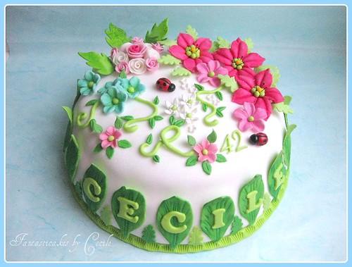 Cake Decorating Spring Flowers : Torta Primavera / Spring Flowers Cake Flickr - Photo ...
